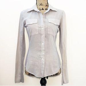 Standard James Perse gray button down shirt